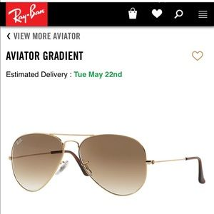 Ray Ban Large Aviator Gradient Gold RB3025